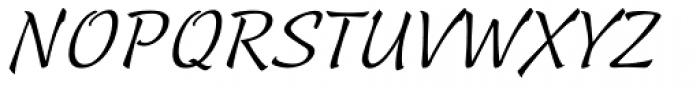 Linotype Sallwey Script Font UPPERCASE