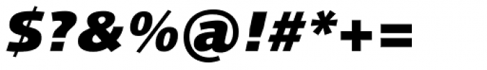 Linotype Syntax Black Italic OsF Font OTHER CHARS