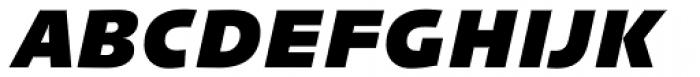 Linotype Syntax Black Italic OsF Font UPPERCASE