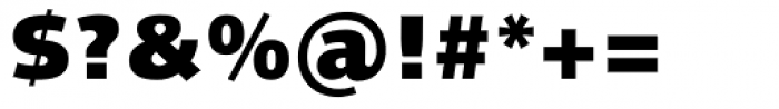 Linotype Syntax Black OsF Font OTHER CHARS