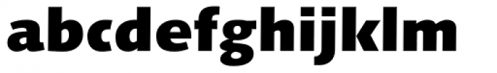 Linotype Syntax Black OsF Font LOWERCASE
