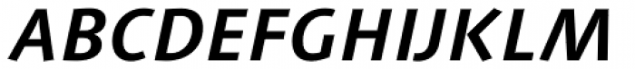 Linotype Syntax Bold Italic Font UPPERCASE