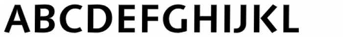 Linotype Syntax Bold OsF Font UPPERCASE