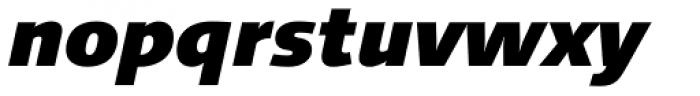 Linotype Syntax Com Black Italic Font LOWERCASE