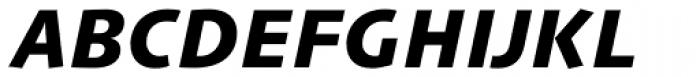 Linotype Syntax Com Heavy Italic Font UPPERCASE