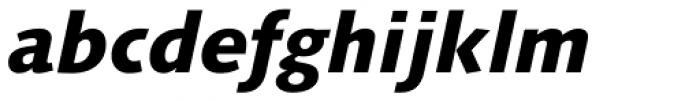 Linotype Syntax Com Heavy Italic Font LOWERCASE