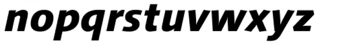 Linotype Syntax Heavy Italic OsF Font LOWERCASE