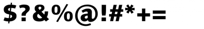 Linotype Syntax Heavy Font OTHER CHARS