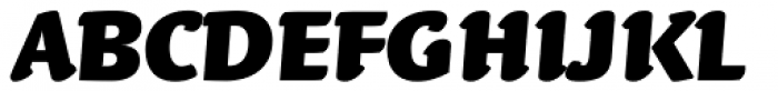 Linotype Syntax Letter OsF Black Italic Font UPPERCASE