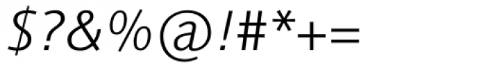 Linotype Syntax Light Italic OsF Font OTHER CHARS