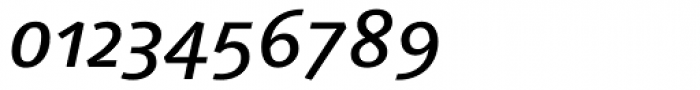 Linotype Syntax Medium Italic OsF Font OTHER CHARS