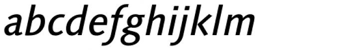 Linotype Syntax Medium Italic OsF Font LOWERCASE