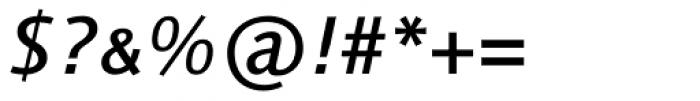 Linotype Syntax Medium Italic SC Font OTHER CHARS