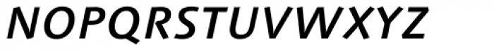 Linotype Syntax Medium Italic SC Font LOWERCASE