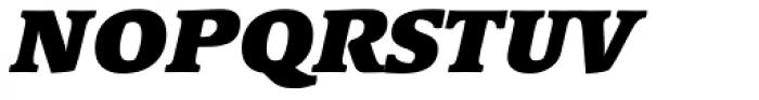 Linotype Syntax Serif Black Italic Font UPPERCASE