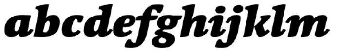 Linotype Syntax Serif Black Italic Font LOWERCASE