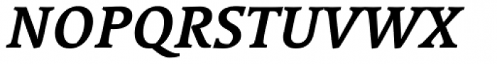 Linotype Syntax Serif Bold Italic Font UPPERCASE
