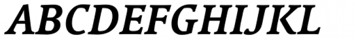 Linotype Syntax Serif Com Bold Italic Font UPPERCASE