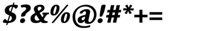 Linotype Syntax Serif Com Heavy Italic Font OTHER CHARS