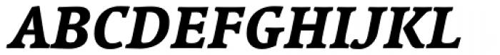 Linotype Syntax Serif Com Heavy Italic Font UPPERCASE