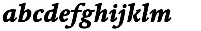 Linotype Syntax Serif Com Heavy Italic Font LOWERCASE