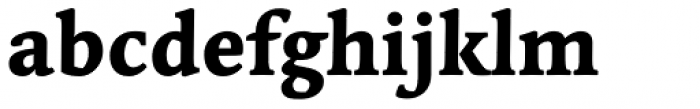 Linotype Syntax Serif Com Heavy Font LOWERCASE
