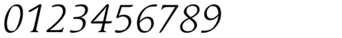 Linotype Syntax Serif Com Light Italic Font OTHER CHARS