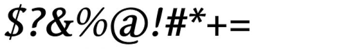 Linotype Syntax Serif Com Medium Italic Font OTHER CHARS