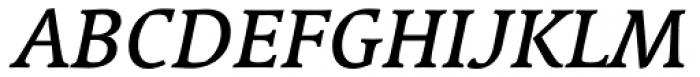 Linotype Syntax Serif Com Medium Italic Font UPPERCASE