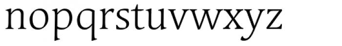 Linotype Syntax Serif Light Font LOWERCASE