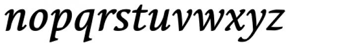 Linotype Syntax Serif Medium Italic Font LOWERCASE