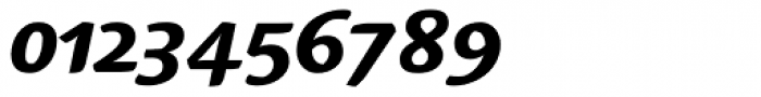 Linotype Syntax Serif OsF Heavy Italic Font OTHER CHARS