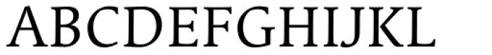 Linotype Syntax Serif OsF Regular Font UPPERCASE