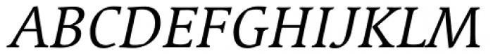 Linotype Syntax Serif SC Italic Font UPPERCASE