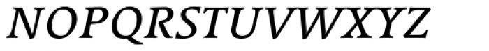 Linotype Syntax Serif SC Italic Font LOWERCASE