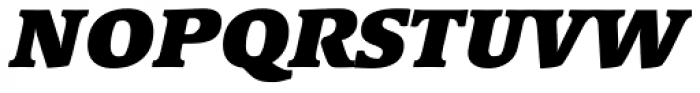 Linotype Syntax Serif Std Black Italic Font UPPERCASE