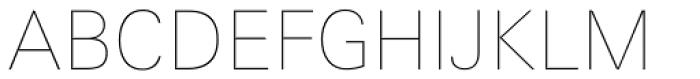 Linotype Univers 130 Basic UltraLight Font UPPERCASE