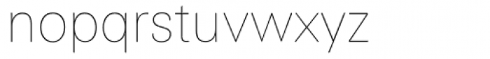 Linotype Univers 130 Basic UltraLight Font LOWERCASE