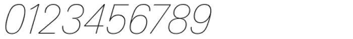 Linotype Univers 131 Basic UltraLight Italic Font OTHER CHARS