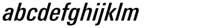 Linotype Univers 521 Condensed Medium Italic Font LOWERCASE