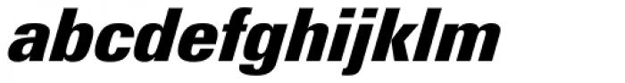 Linotype Univers 921 Condensed ExtraBlack Italic Font LOWERCASE