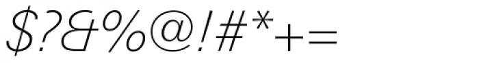 Linotype Univers Com 231 Basic Thin Italic Font OTHER CHARS