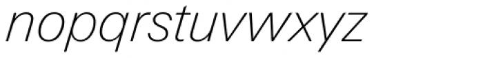 Linotype Univers Com 231 Basic Thin Italic Font LOWERCASE