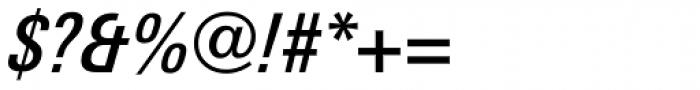 Linotype Univers Com 521 Condensed Medium Italic Font OTHER CHARS