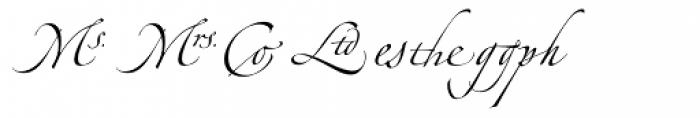 Linotype Zapfino Ligature Font UPPERCASE