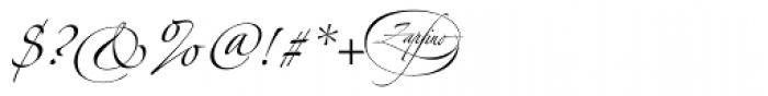 Linotype Zapfino One Font OTHER CHARS
