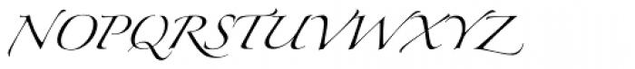 Linotype Zapfino One Font UPPERCASE