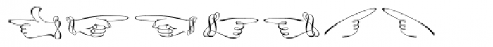 Linotype Zapfino Ornaments Font LOWERCASE
