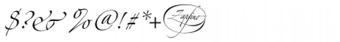 Linotype Zapfino Three Font OTHER CHARS