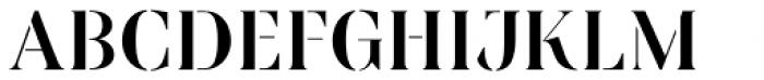 Linsingen Stencil Font UPPERCASE